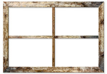 Very Aged Wooden Window Frame ...