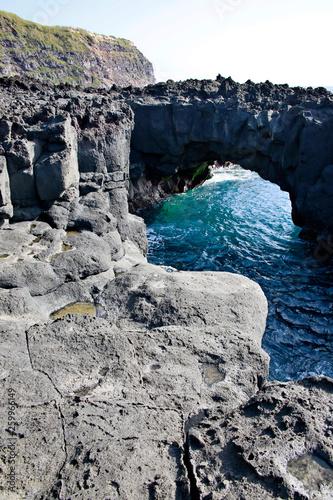 Fotografie, Obraz  natürliche Felsenbrücke an der Ponta da Ferraria