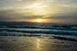 Sunrise Photographed by the Sea Cagliari Sardinia Tourism