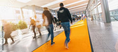 Valokuvatapetti blurred people in a modern hall