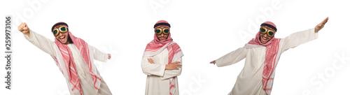 Fotografie, Tablou Arab man wearing aviator glasses isolated on white