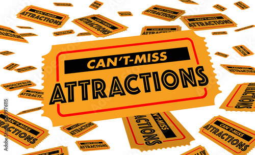Foto  Cant Miss Attractions Must See Tourist Spots Tickets 3d Illustration