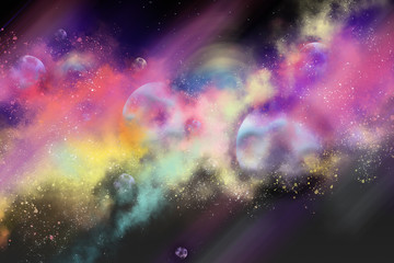 digital painting galaxy in ...