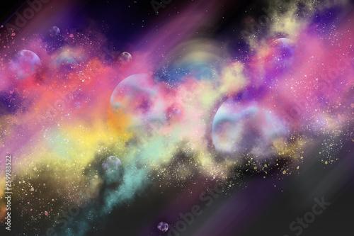 digital painting galaxy in ...