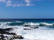 Hawaiian beach with blue waves