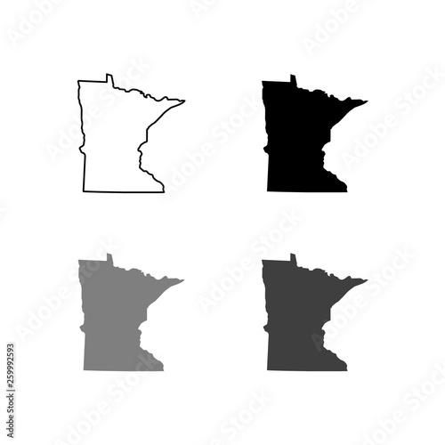 map of Minnesota. Vector illustration Fototapete