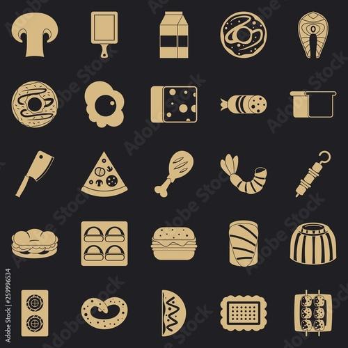 Fotografie, Obraz  Yummy icons set