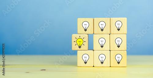 Fotografía Creative idea, New idea, innovation and solution concept
