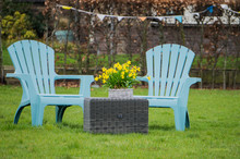 Two Light Blue Garden Chairs S...