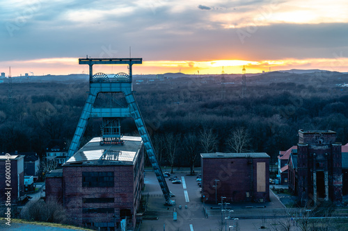 Fototapeta Mine shaft at sunset