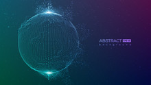 Abstract Globe Particles Spher...