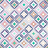 bezszwowe zabawny wzór kreatywny. Stylowe kropki doodle kolorowe tło romb - 260003770