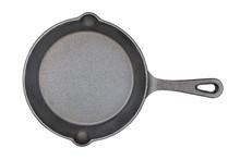 Black Cast-iron Skillet Isolated
