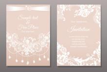 Invitation Card In Romantic La...