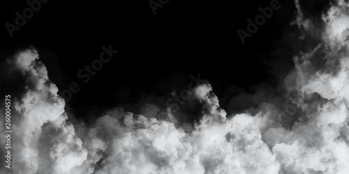 cloud on black background