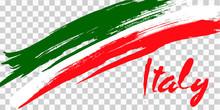 Italy Flag Grunge Style