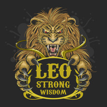 LEO LION ZODIAC VECTOR ELEMENT