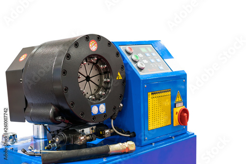 Fotografie, Obraz  close up crimp head of hydraulic hose crimping machine for industrial isolated o