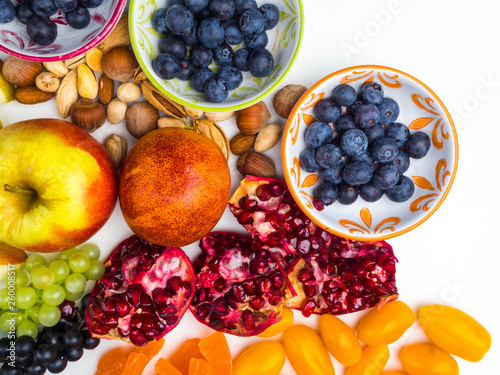 Super Antioxidants Superfood Mix Of Fresh Fruits And Berries Rich With Resveratrol Vitamins Raw Food Ingredients Nutrition Background Nutrient Rich Foods Are Good For Your Heart And Brain Buy This Stock Photo