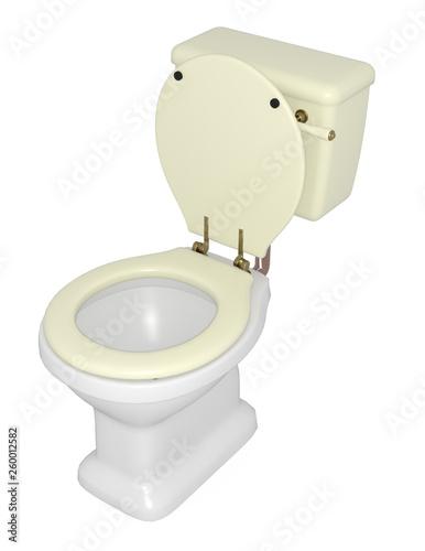 Obraz na plátně WC  su fondo bianco