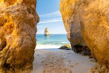 Rocky Arch On Sandy Beach Prai...