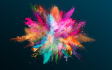 Colored Powder Explosion On Bl...