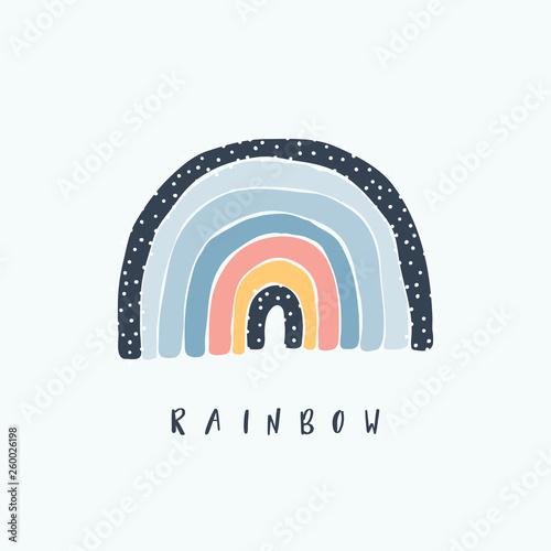 Obraz na plátně Art rainbow color brush stroke