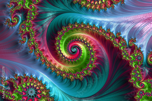 Photo sur Toile Fractal waves Fractal