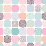 seamless abstract rounded corner square background in pastel color. - 260033112