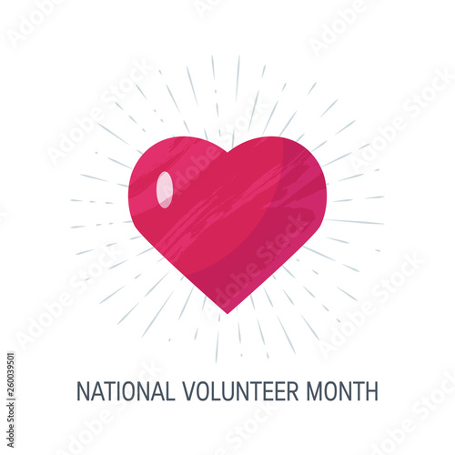 Fotografia  National volunteer month concept in flat style