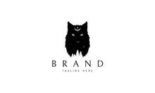 Wild Wolf Abstract Black Vector Logo Design