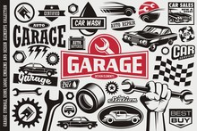 Car Service And Garage Symbols...