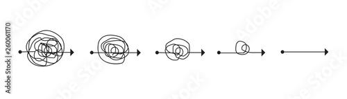 Obraz Problem solving concept, problem and solution concept, vector illustration - fototapety do salonu