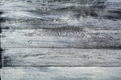 Fotografiet  Wooden surface of white-black color under old times.