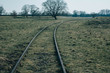 railway in dreary light