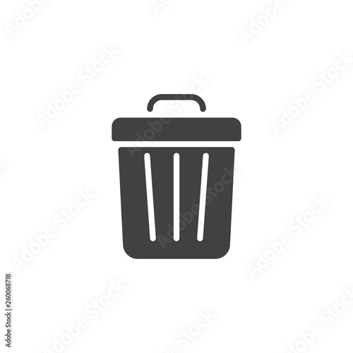 Fototapety, obrazy: Trash can vector icon. filled flat sign for mobile concept and web design. Garbage bin glyph icon. Delete symbol, logo illustration. Pixel perfect vector graphics