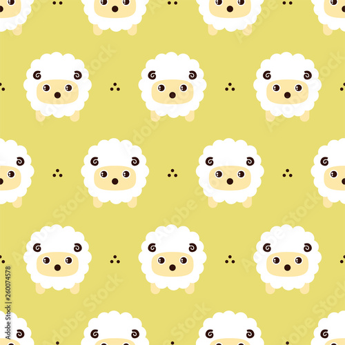 Foto Cute sheep background. Seamless pattern.Vector. 羊のパターン