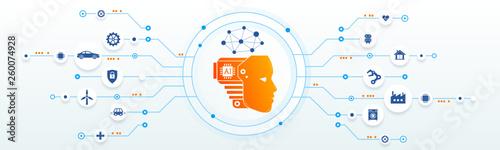 AI, Artificial Intelligence, IA intelligence artificielle Canvas Print