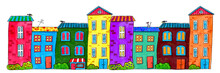 Colorful Drawing Funny Houses