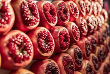Pomegranates At Carmel Market