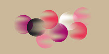 Abstract Pink Round Geometry Shapes Pattern.