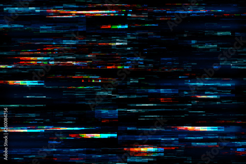 Creative glitch texture Fototapeta