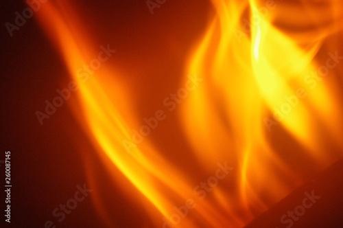 Flammes jaune, orange et rouge Canvas Print