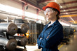 Leinwandbild Motiv Young female technician