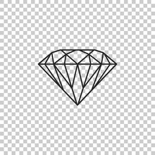 Diamond Sign Isolated On Trans...