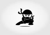 silhouette icon ninja design