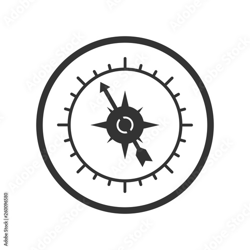 Compass icon, simple design for website or app, simple design Canvas Print