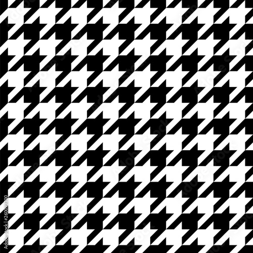 Photo  Black and white pattern Houndstooth seamless pattern black and white
