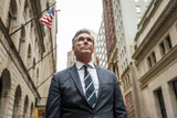 Fototapeta Nowy Jork - Senior businessman in New York