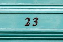 Number Twenty Three On A Turqu...